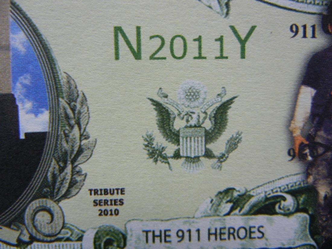 10 Anniv. Tribute to 911 Heroes Commemorative Note. - 2