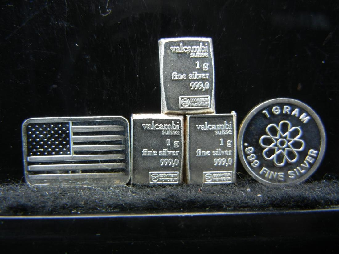 5 Silver rounds/bars. Patriotic Americana Pure 999