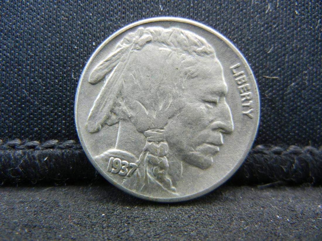 1937 Buffalo Nickel, Bold Full Horn, Almost