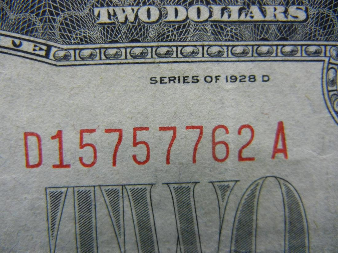 1928-D $2 Red Seal United States Note.  Serial # - 2