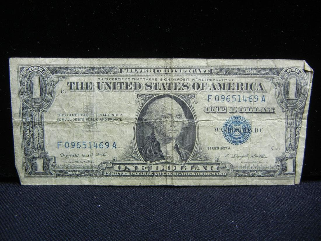 (5)1957-A $1 US Silver Certificates - 2