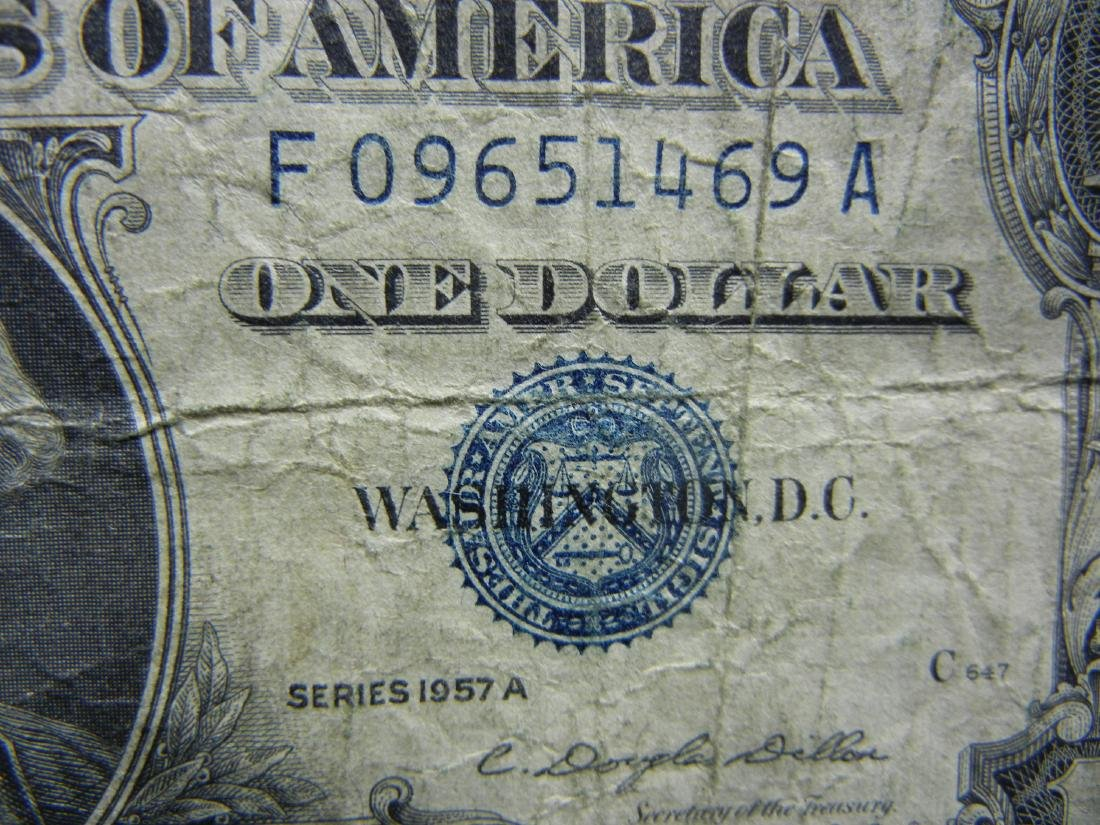 (5)1957-A $1 US Silver Certificates - 3