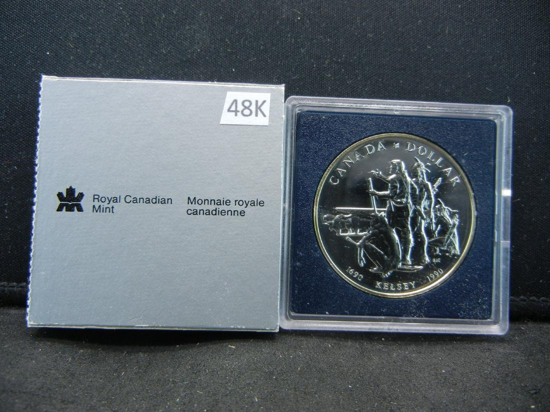 """1990 Canadian """"Henry Kelsey Tricentennial"""" Uncirculated"""