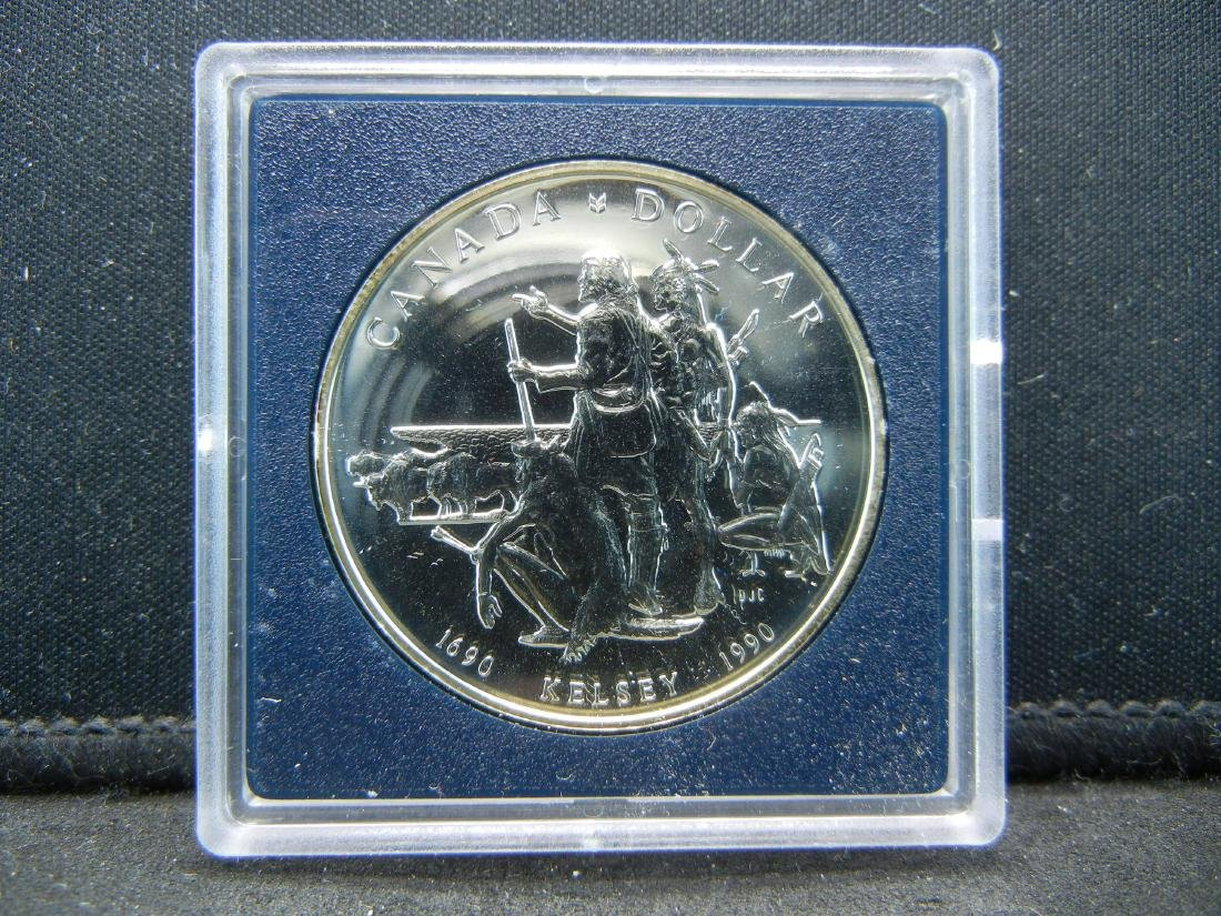 """1990 Canadian """"Henry Kelsey Tricentennial"""" Uncirculated - 2"""