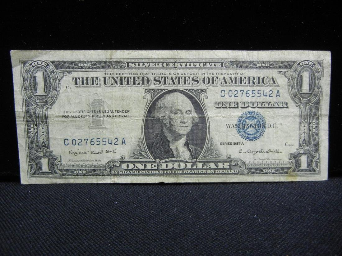 (4)1957-A $1 US Silver Certificates - 2