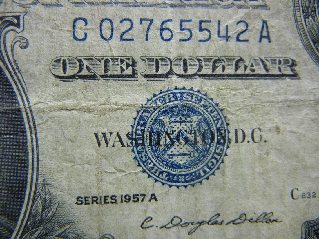 (4)1957-A $1 US Silver Certificates - 3