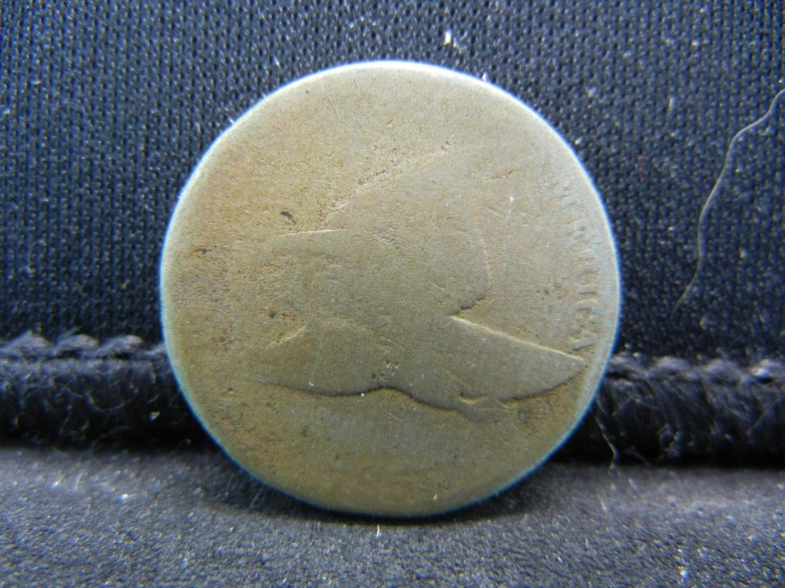 1857 Flying Eagle cent. Rare old US coin