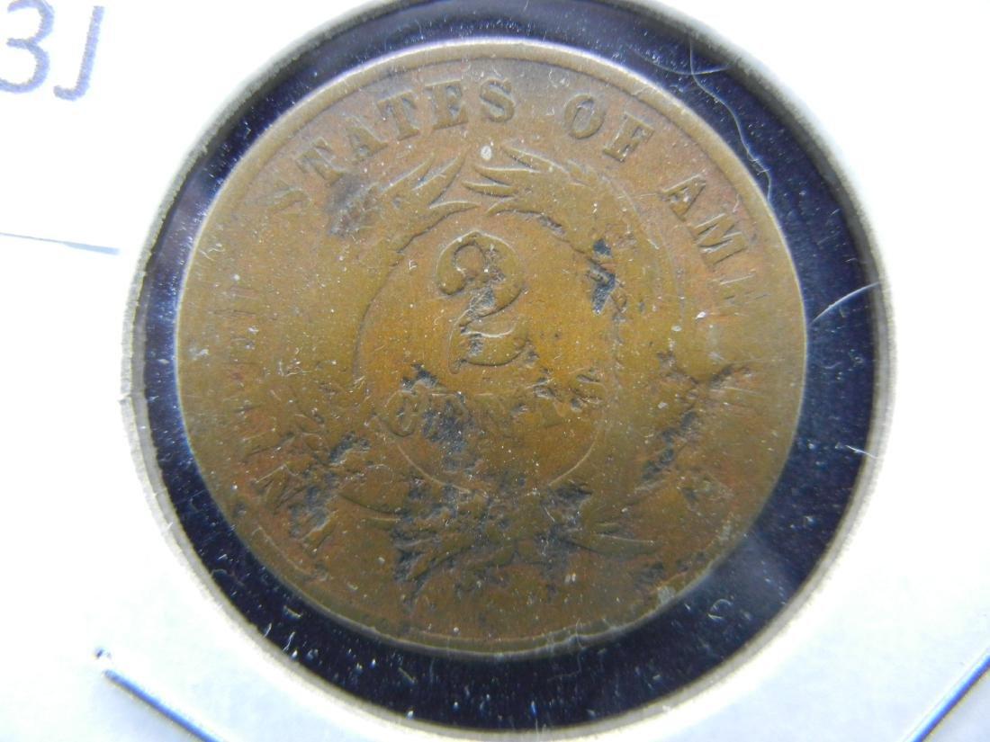 US 2 cents, 1865 CIVIL WAR