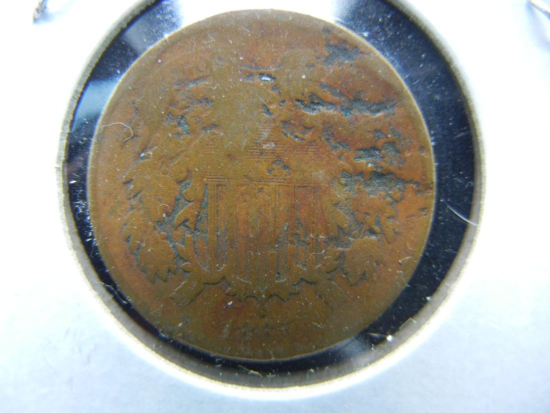 US 2 cents, 1865 CIVIL WAR - 2