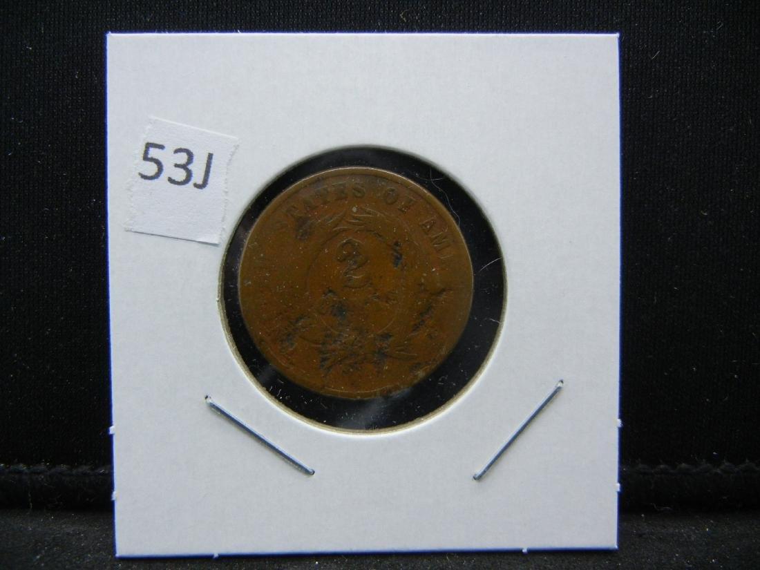 US 2 cents, 1865 CIVIL WAR - 3