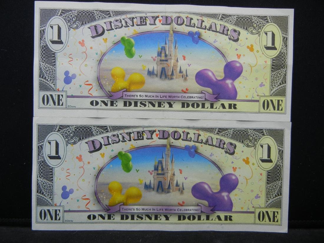 2 Sparkely DISNEY Dollars. - 5