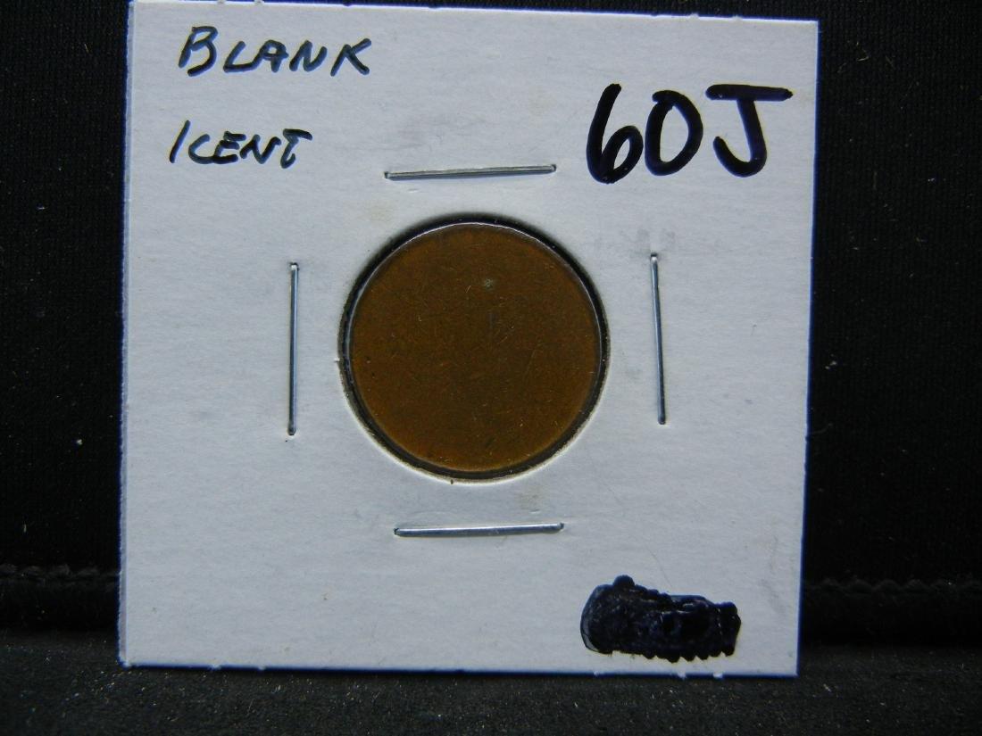 Bronze US cent blank planchet. RARE! - 3