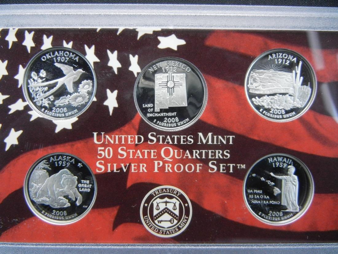 2008 US Mint Silver Proof Set - 2