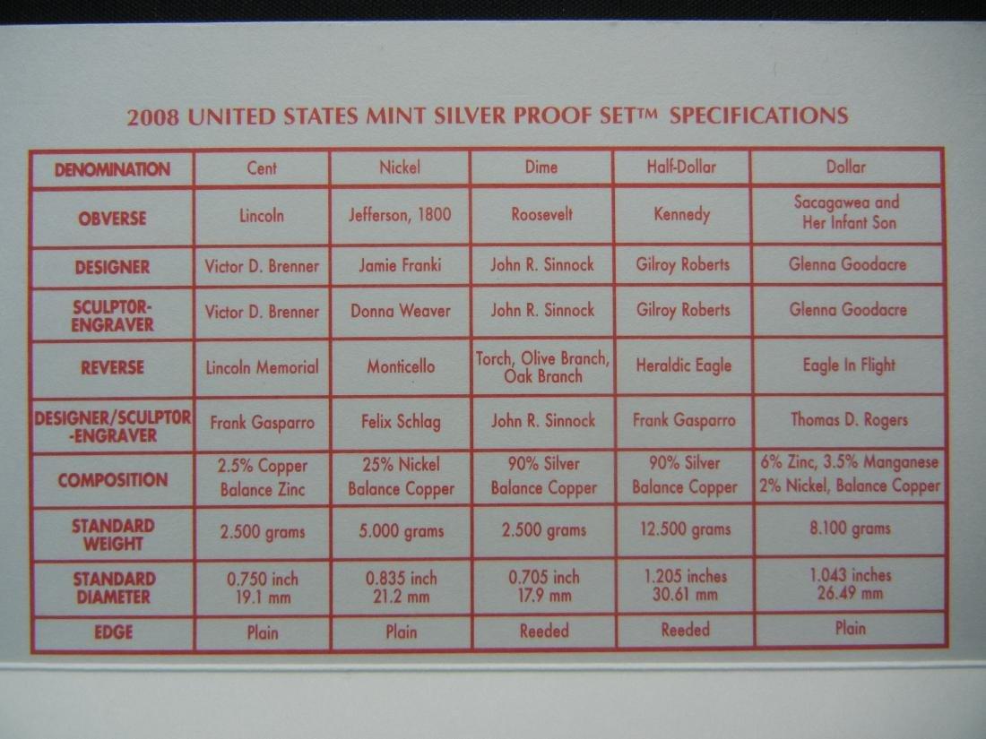 2008 US Mint Silver Proof Set - 8