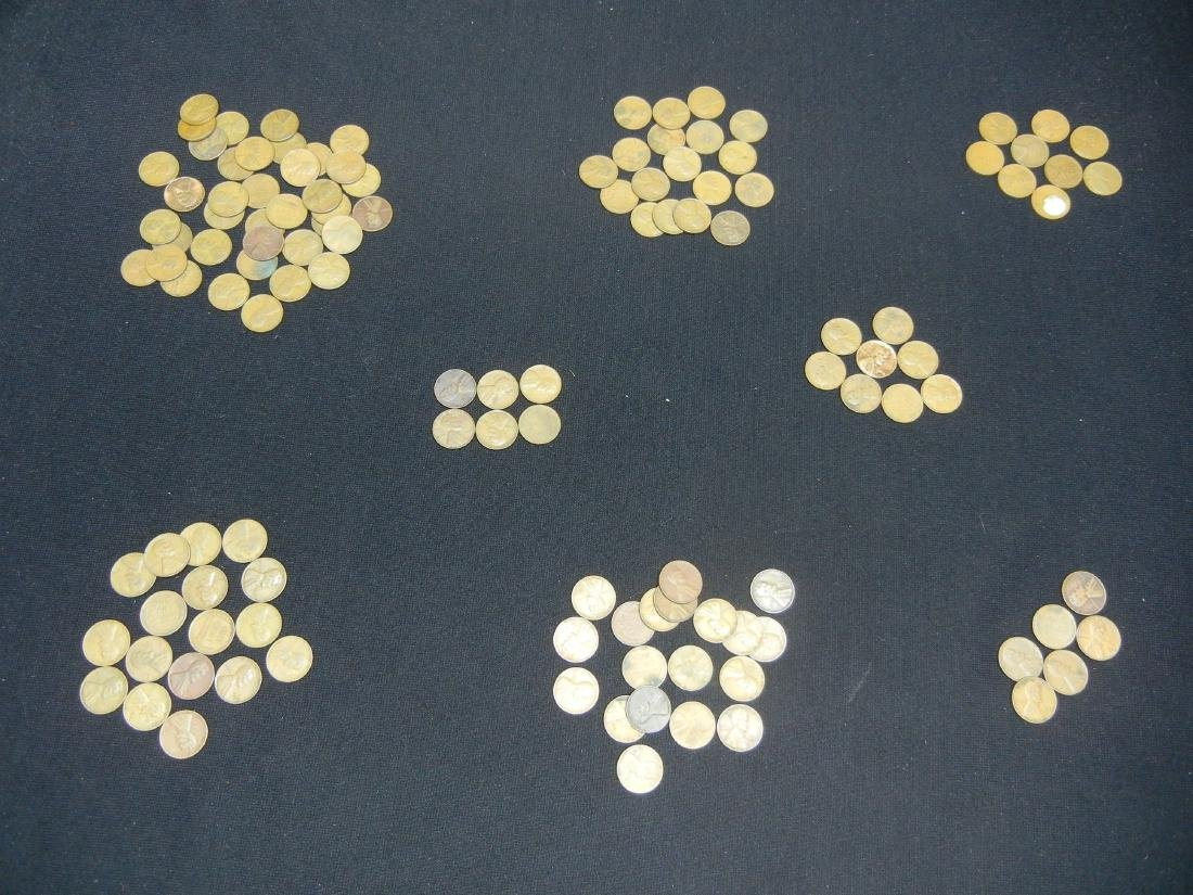 121 1940's Lincoln Wheat Cents