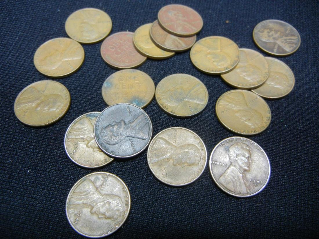 121 1940's Lincoln Wheat Cents - 8