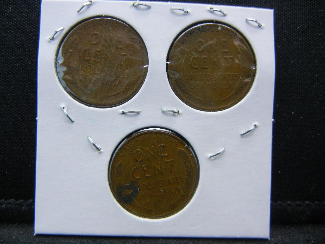 1935-P, D, S Lincoln Wheat Cents - 2