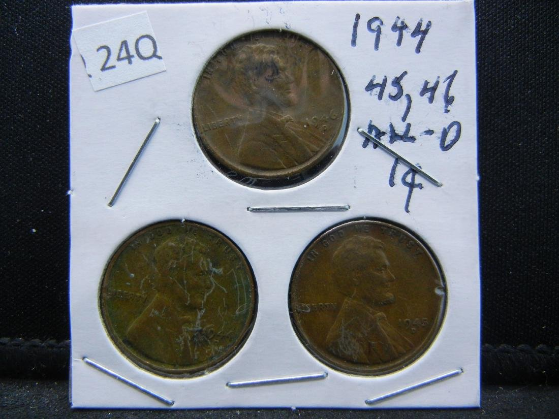 1944, 1945, 1946 (All D) Lincoln Wheat Cents