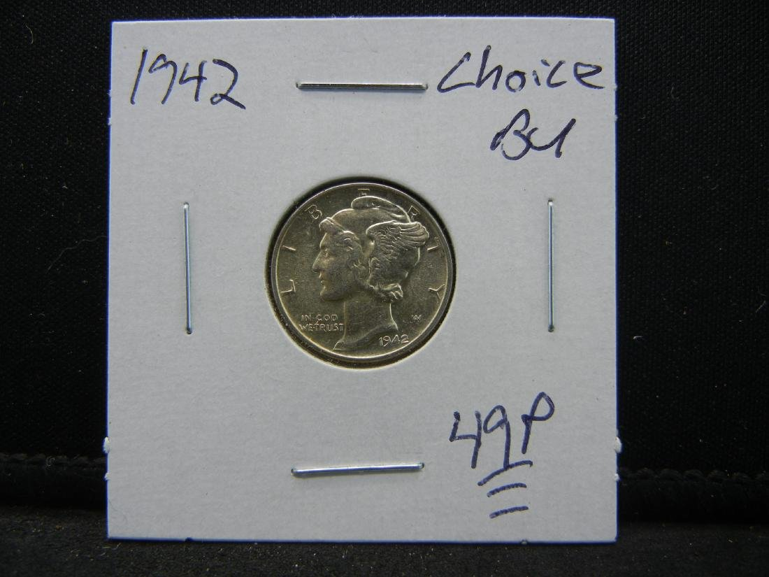 1942 Mercury Dime Choice BU - 3