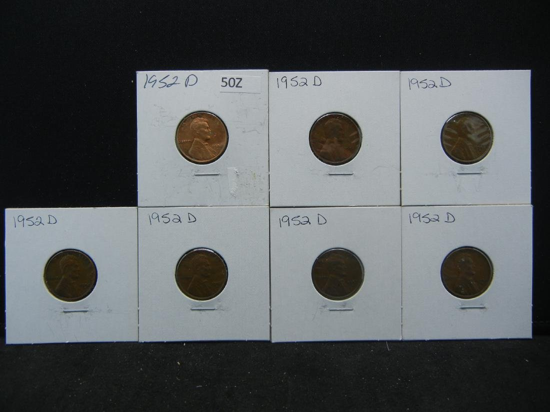 (7) 1950's Lincoln Wheat Cents