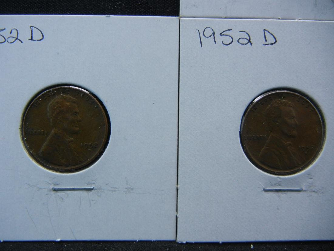 (7) 1950's Lincoln Wheat Cents - 3