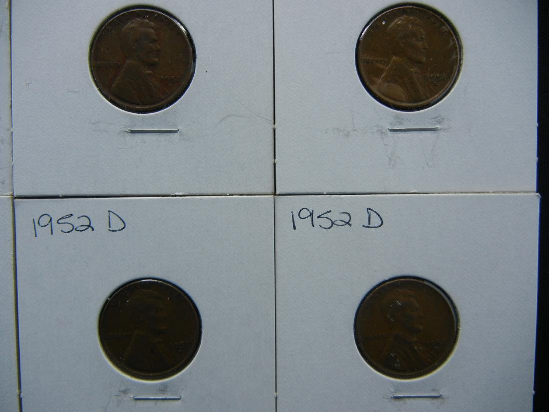 (7) 1950's Lincoln Wheat Cents - 4
