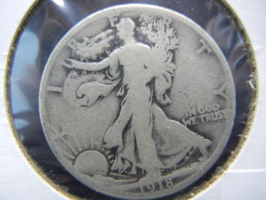 1918 Walking Liberty Half Dollar - 90% Silver