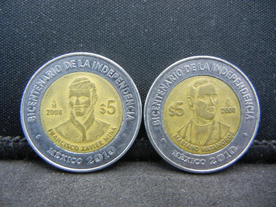 2008 5 Peso Mariano Matamoros & Francisco Javier Mina
