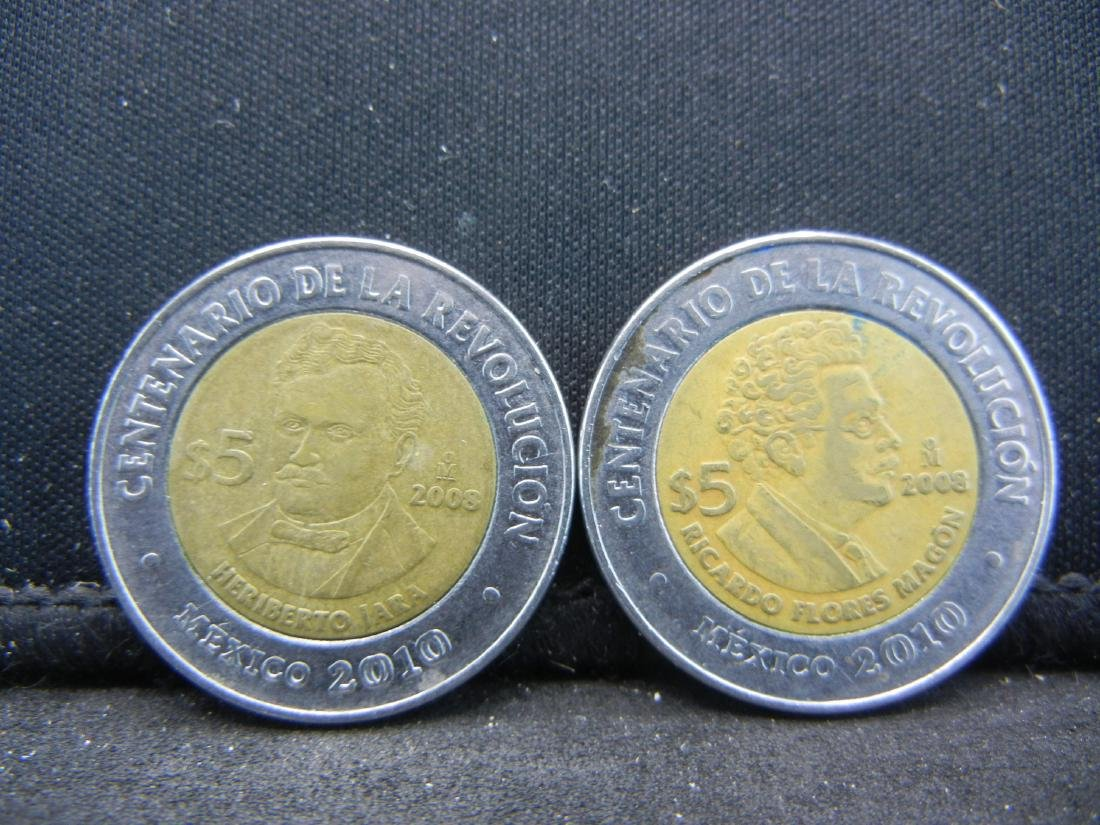 2008 5 Peso Ricardo Flores Magon & Heriberto Jara