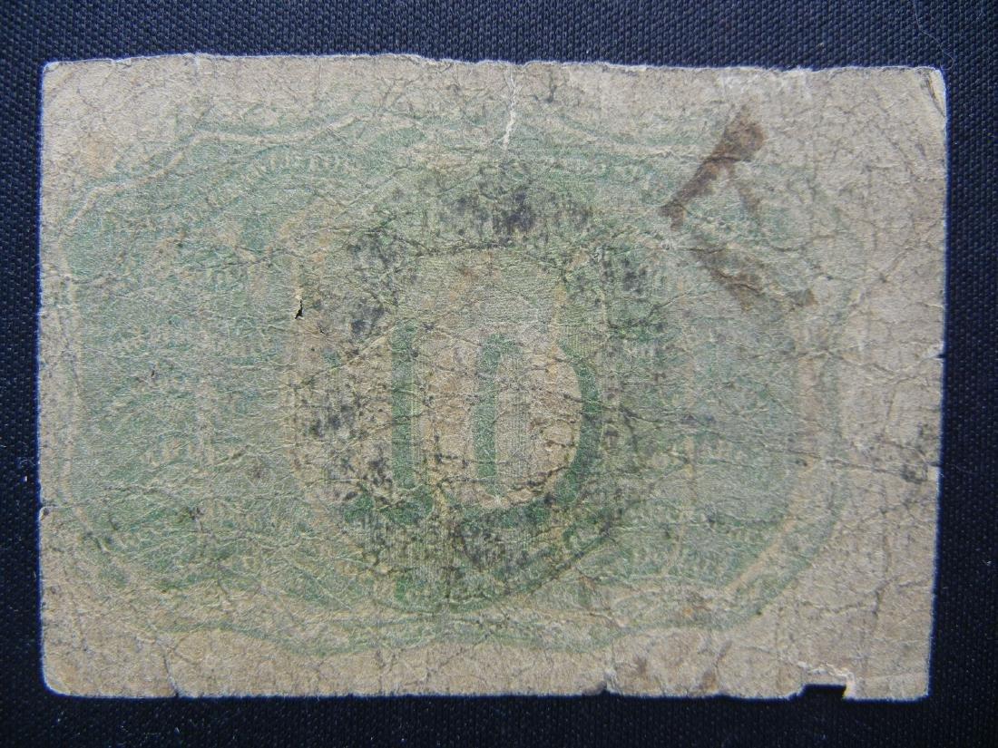 1863 George Washington Fractional US 10 cent note. - 2