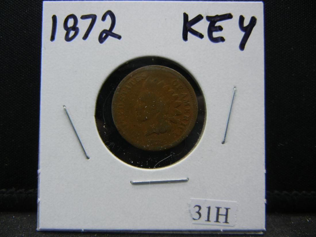 1872 KEY Indian Head cent. No problem coin! - 3