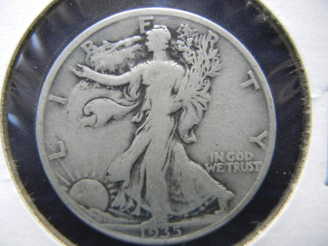 1935-S Walking Liberty Half Dollar - 90% Silver