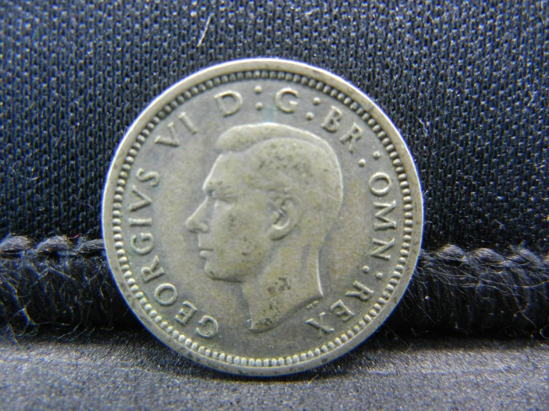 1938 Great Britain 3 Pence 50% Silver Coin, Weighs 0.05 - 2