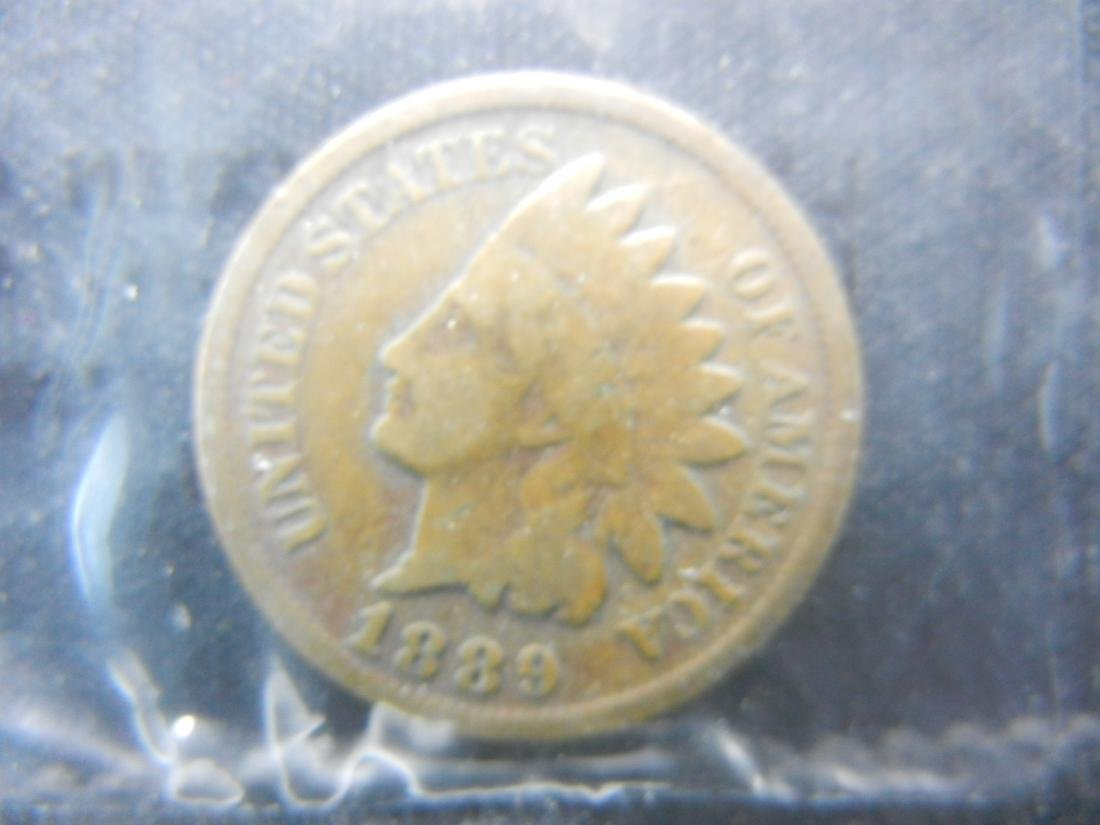 1889 Indian Head Cent, Graded Good by Littleton Coin