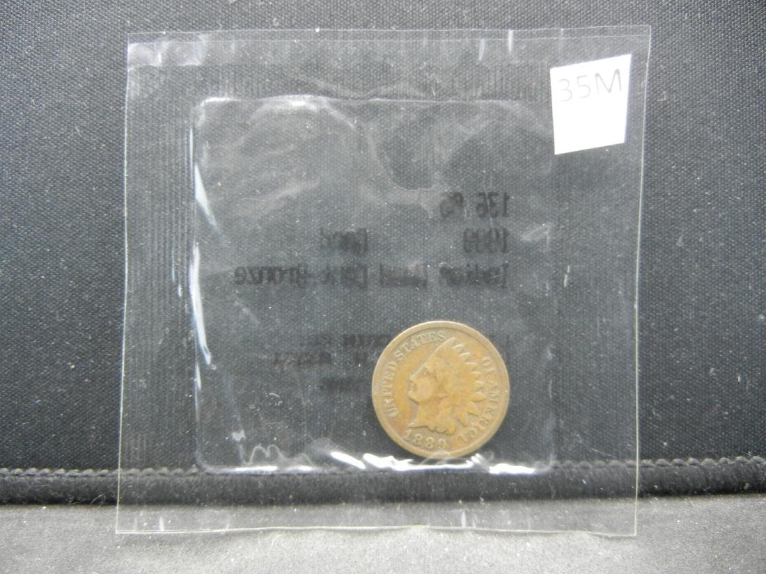 1889 Indian Head Cent, Graded Good by Littleton Coin - 3