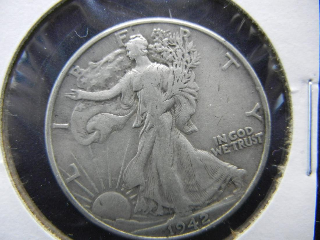 1942 Walking Liberty Half Dollar - 90% Silver