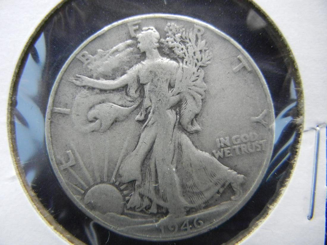 1946 Walking Liberty Half Dollar - 90% Silver