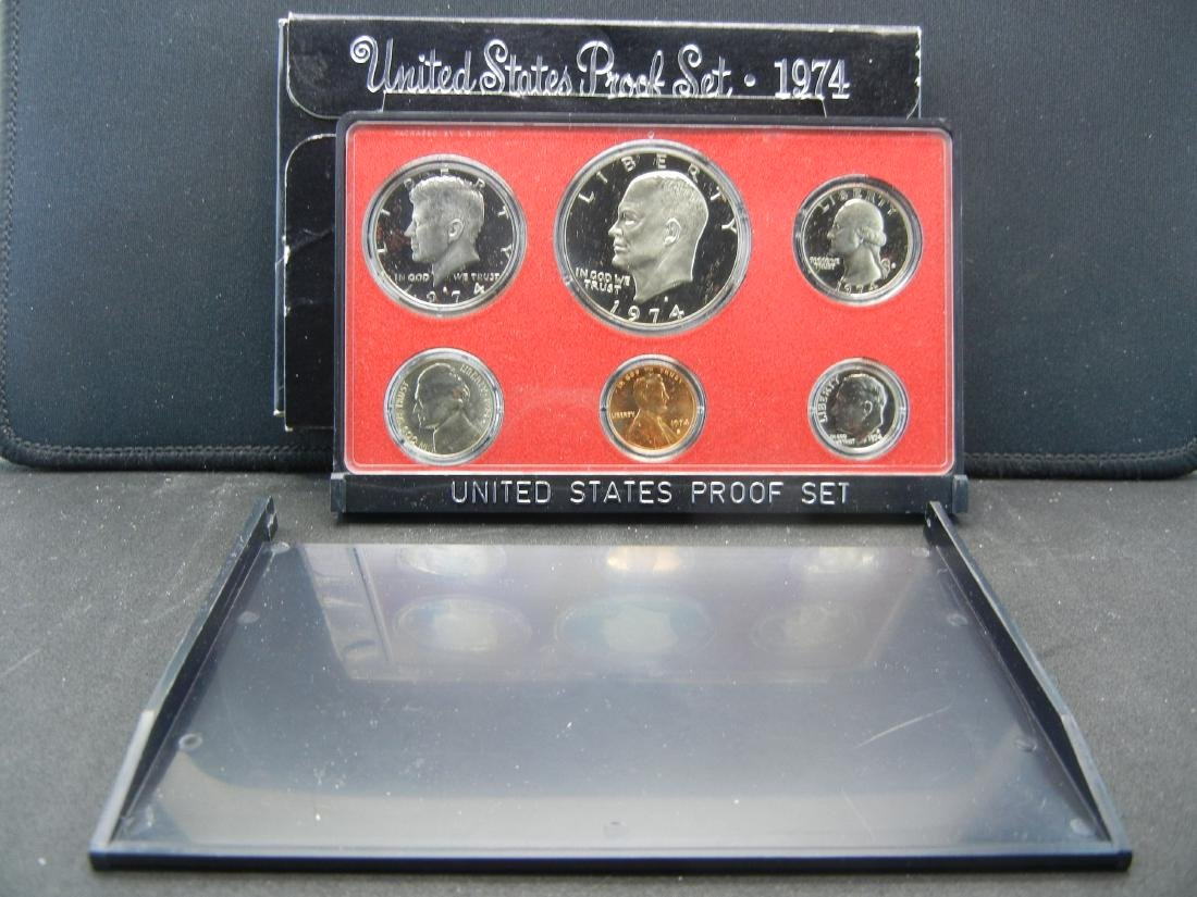 1974 Deep Cameo San Fransisco Proof set. IKE DOLLAR!