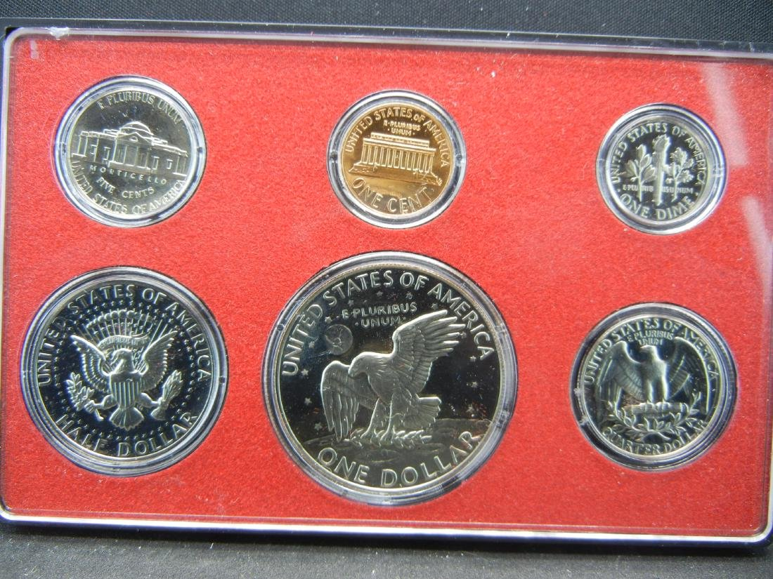 1974 Deep Cameo San Fransisco Proof set. IKE DOLLAR! - 3