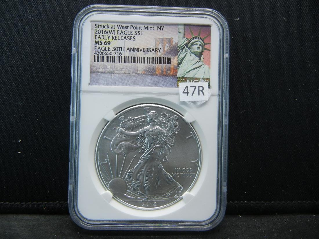 2016 (W) American Silver Eagle Struck at West Point NGC