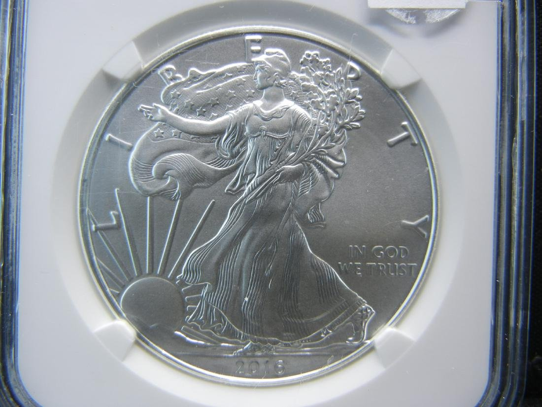 2016 (W) American Silver Eagle Struck at West Point NGC - 2