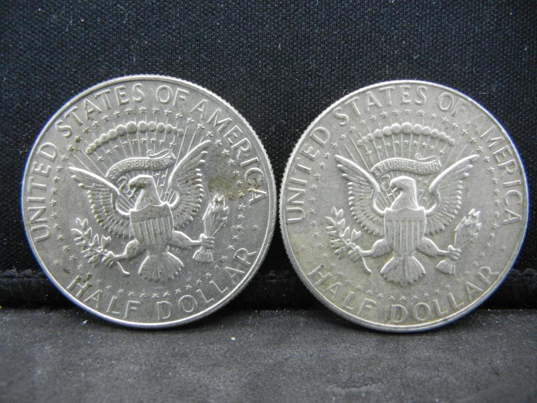 1967/1969-D Silver Kennedy Half Dollars - 40% Silver - 2