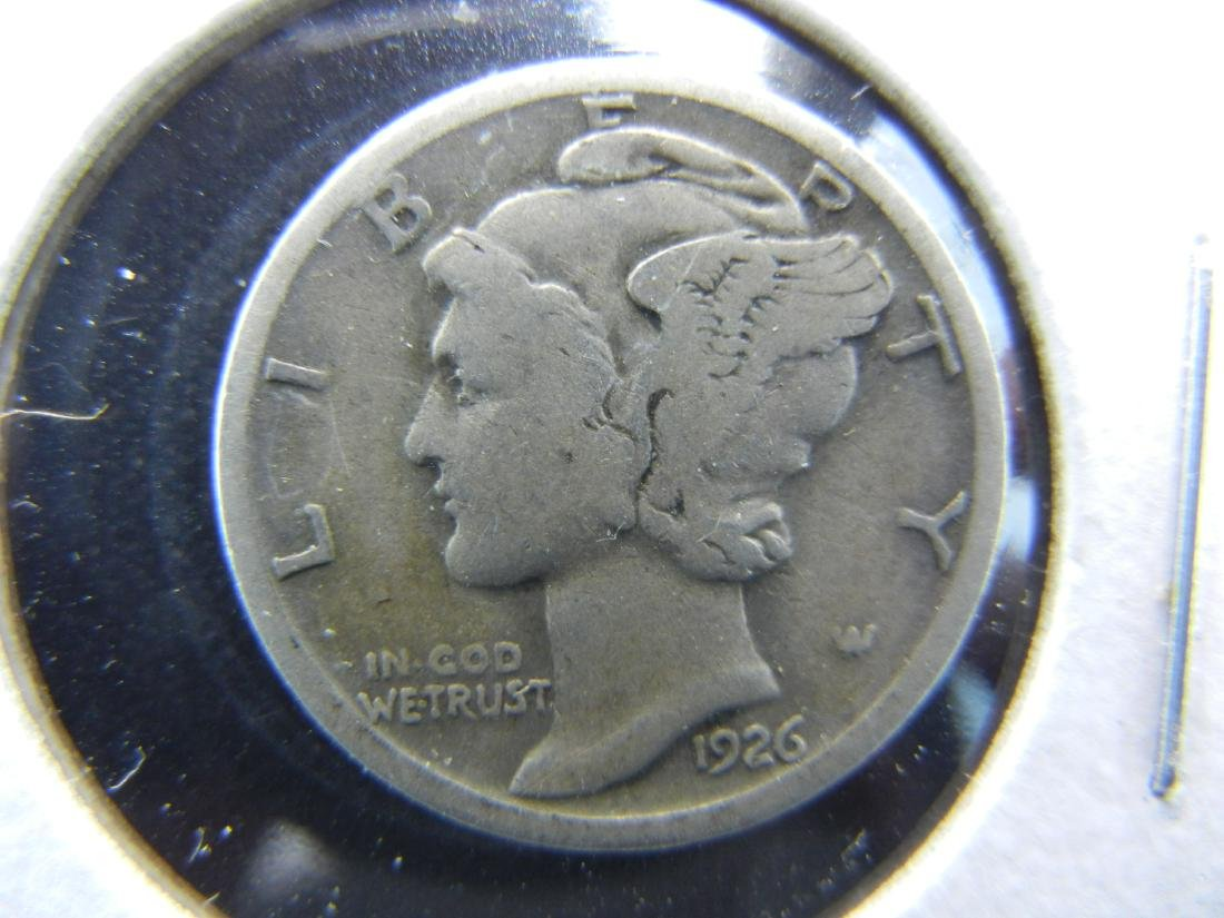 1926-S KEY DATE Mercury Dime. Fine