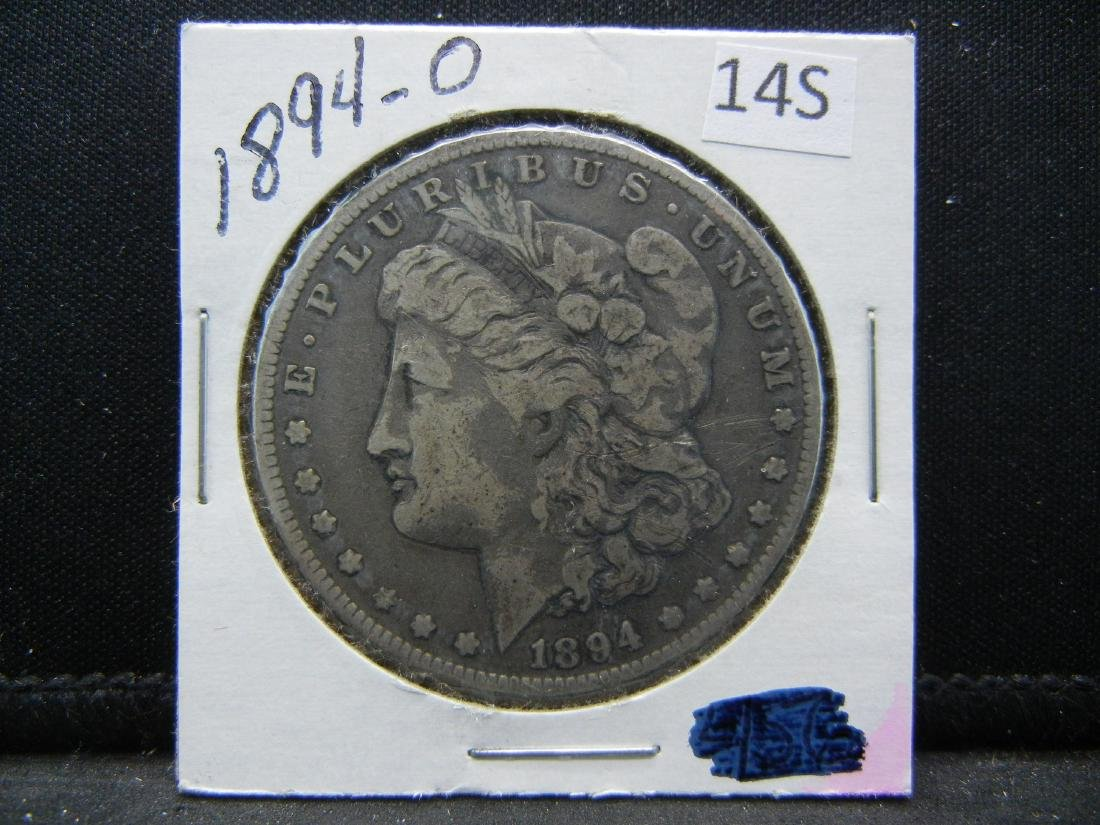 1894-O Morgan Silver Dollar - 3