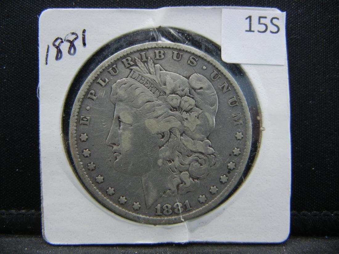 1881 Morgan Silver Dollar - 3