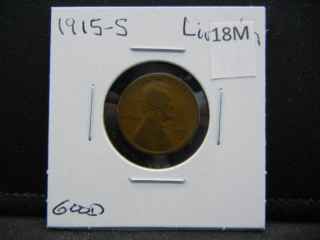 1915-S Lincoln Wheat Cent - 3