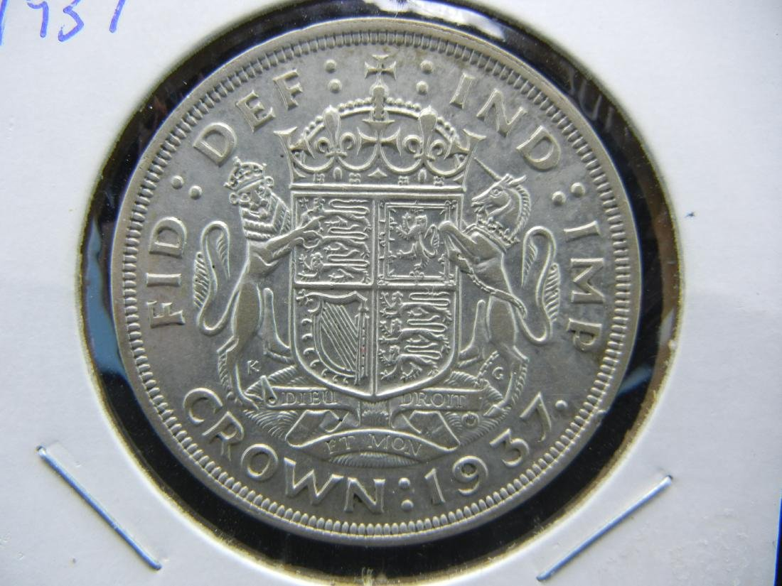 1937 Great Britain Silver Crown.   Extremely Fine.