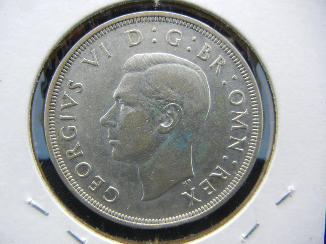1937 Great Britain Silver Crown.   Extremely Fine. - 2