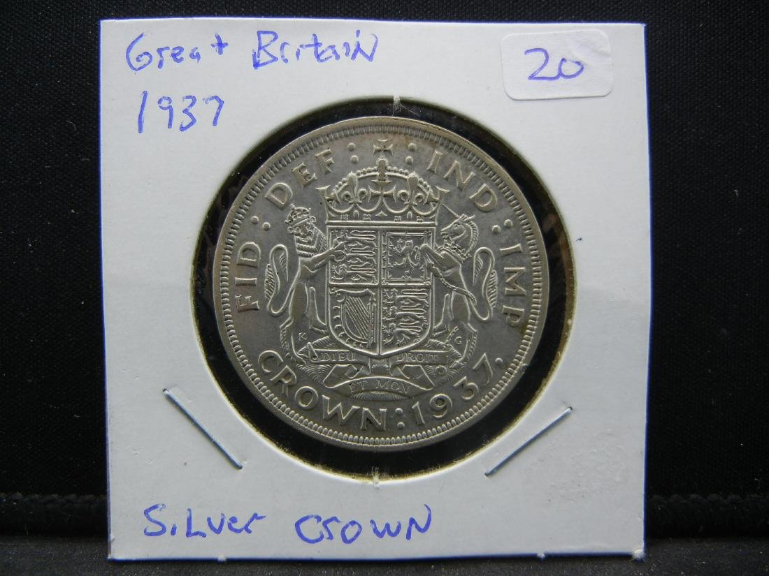 1937 Great Britain Silver Crown.   Extremely Fine. - 3