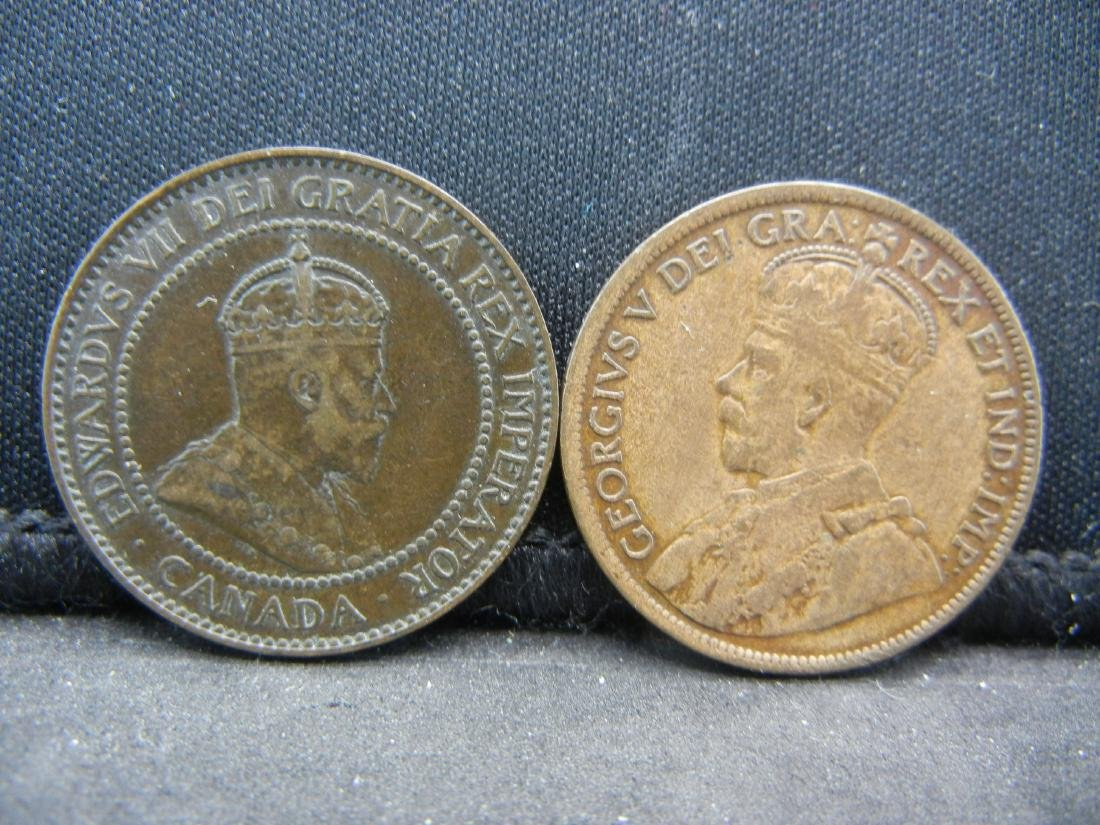(2), CANADIAN ONE CENT'S 1904 & 1918, OVER 1 CENTURY - 2